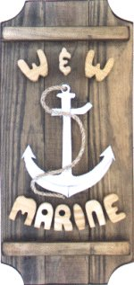 Silver Anchor  on a 3 board sign.