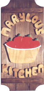 Apple Basket on a 4 board sign.
