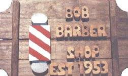 Barber Pole on a 3 board sign.